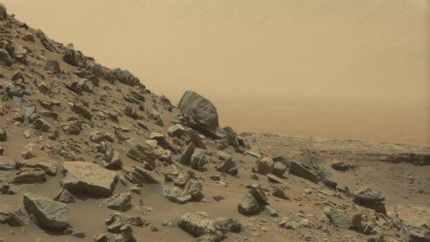 De nouvelles images, transmises par le rover Curiosity de la NASA, dévoilent d'incroyables formations rocheuses...