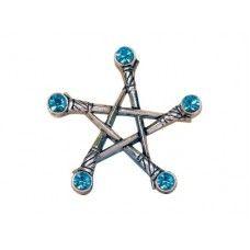Pentagram mečů Hroty mečů směrují magickou ochrannou energii směrem k specifickému cíli v tomto velmi silném pentagramu, který je účinný jako ochranný štít proti negativní energii.