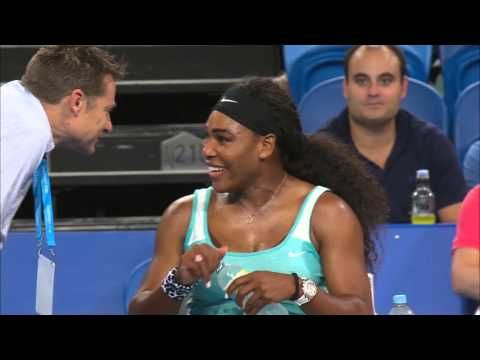 1/5/15 #HopmanCup World #1 Serena Williams orders a double shot espresso on the way to losing her 1st set v Flavia Pennetta 0-6. Serena drinks the coffee and wins the match! #RenasArmy