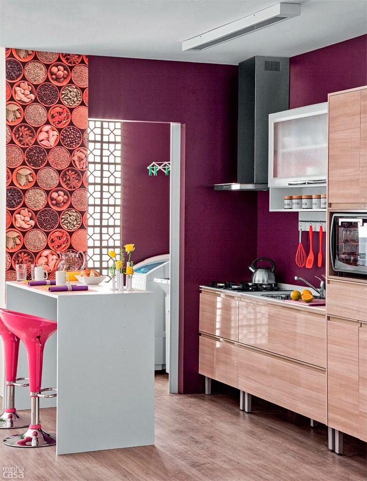 Construindo Minha Casa Clean: 13 Cozinhas Roxas Decoradas e Modernas!