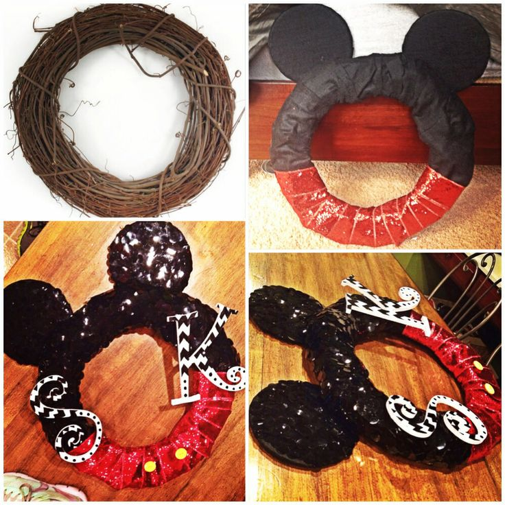 Diy Mickey Wreath Disney Front Door Decor Disney