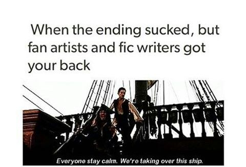 And I would like to thank those fan artists and fic writers, you are all great