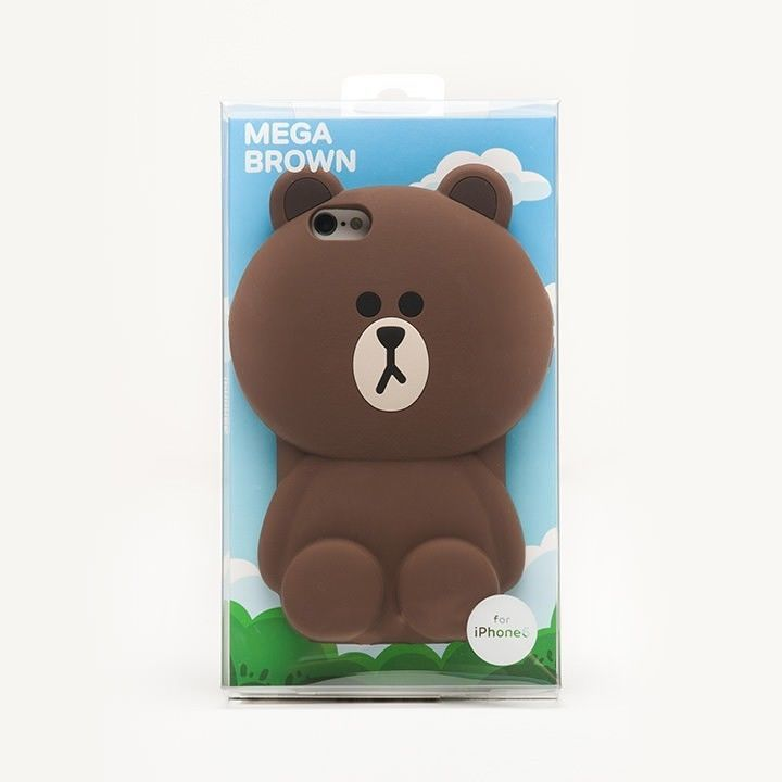 LINE FRIENDS Character iPhone 6 Silicone Case MEGA BROWN Official Goods #LINEFRIENDS