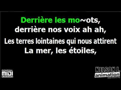 Souchon Voulzy - Derrière les mots *** Nelson J. Karaoké *** - YouTube