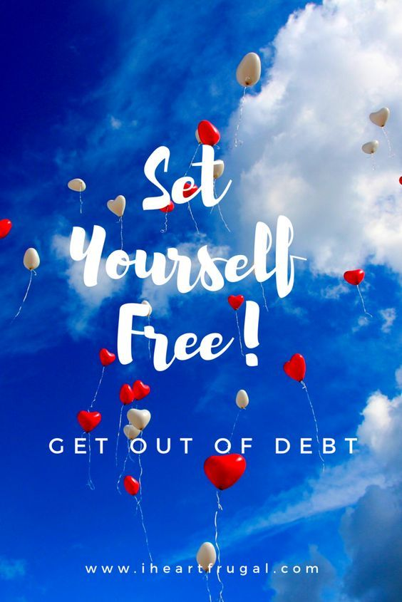 Getting out of debt is hard, but if you learn to budget and follow my 11 steps it can be done! - www.iheartfrugal.com