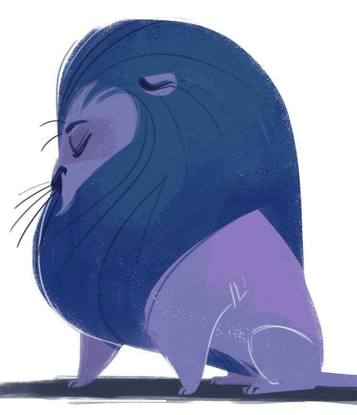 330: Blue Lion http://dailycatdrawings.tumblr.com/