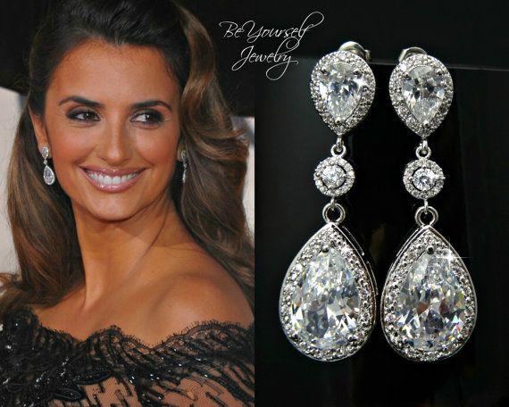 Bridal Earrings White Crystal - 49.2KB
