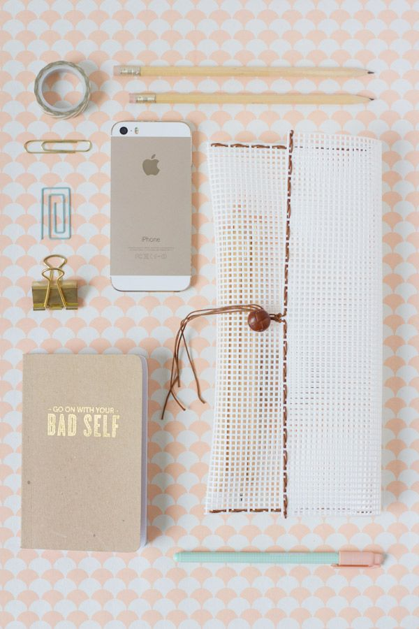 DIY Woven Pencil Pouch | Lovely Indeed