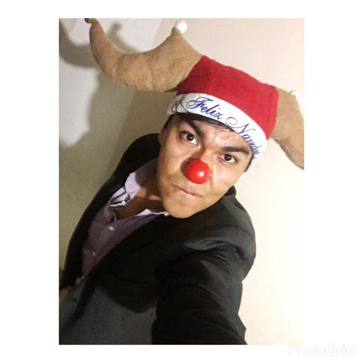 Kaxio el reno de la nariz roja. 😅😁🤣😛😐🙄🦌🔴🎅🏻  #Selfie #Christmas #Nose #Red #ParezcoPayaso