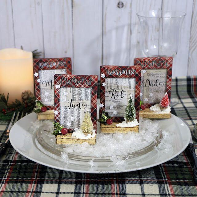 CHRISTMAS PLACE CARDS - Jan Hobbins