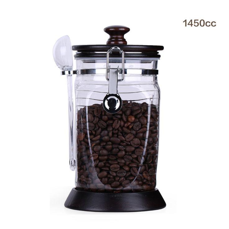 Субметровую кофейные зерна в герметичные банки бака для хранения влагостойкий кофейных банок банок чай Caddy-высушенные заедки плодоовощ свежий отправили размере ложка-определиться. com дней кошка