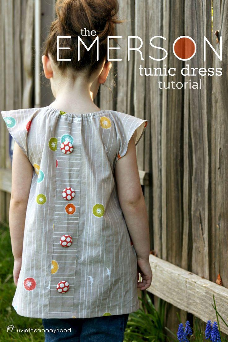 luvinthemommyhood: the emerson tunic dress tutorial!: Emerson Tunics, Dresses Tutorials, Sewing Projects, Tunics Tutorials, Kids Clothing, Free Patterns, Dresses Patterns, Sewing Patterns, Tunics Dresses