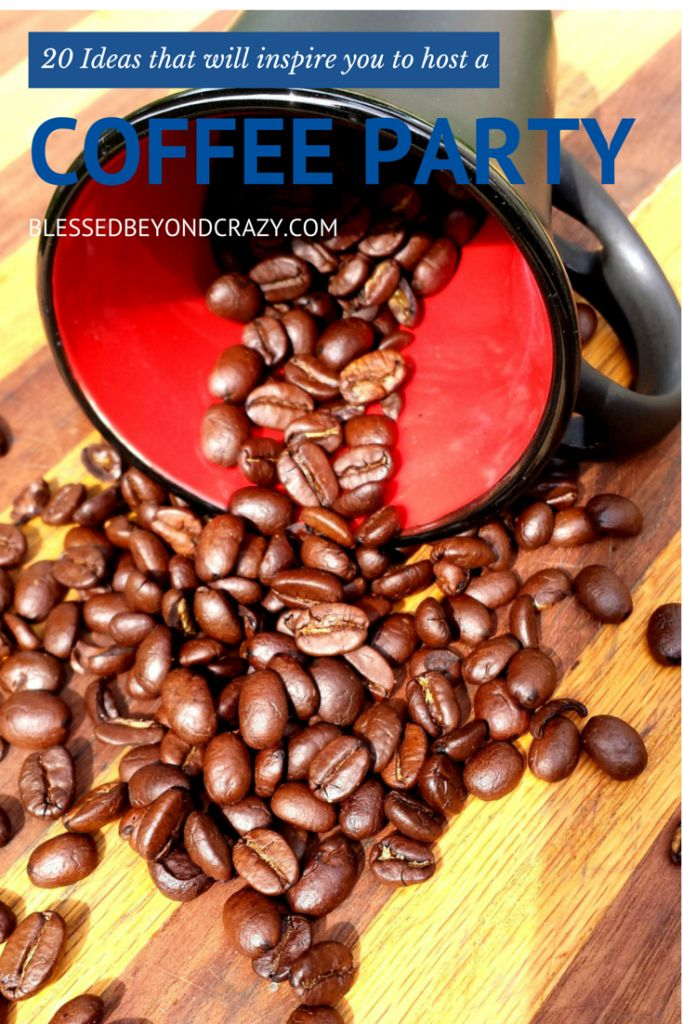 20 Ideas for all coffee lovers! From desserts, drinks, soap, centerpieces--so many creative and unique coffee ideas!