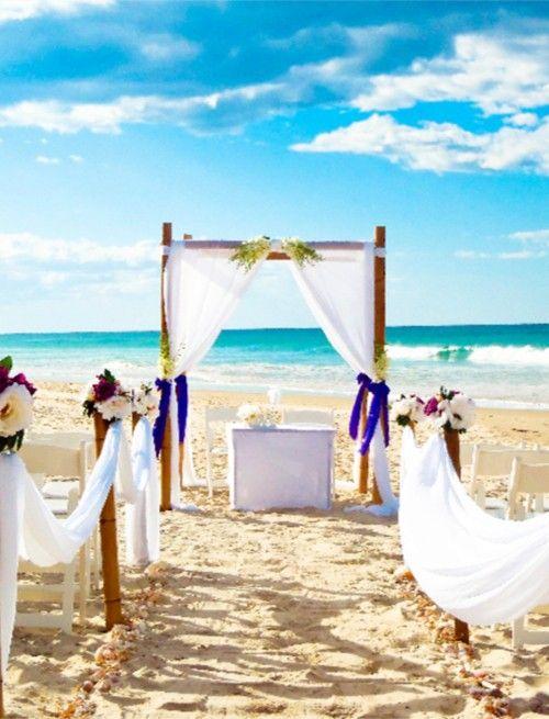 2014 flower bouquet beach wedding aisle decor www.dreamyweddingideas.com