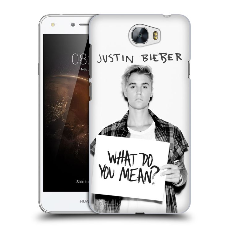 Plastové pouzdro na mobil Huawei Y5 II HEAD CASE Justin Bieber Official - What do you mean ?