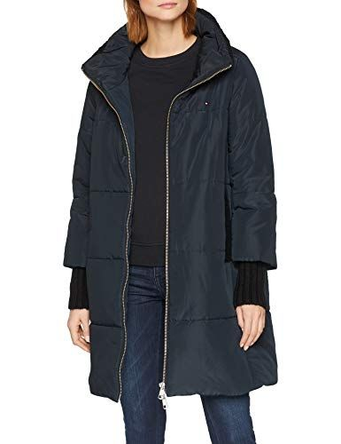 4573815df0f637 Tommy Hilfiger Damen Mantel SABA HW Padded Coat Schwarz (Black Beauty 094)  X-