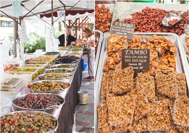 Fresh food - Wochenmarkt Paguera - MAllorca - Spanien - Balearen - Oliven - fresh food