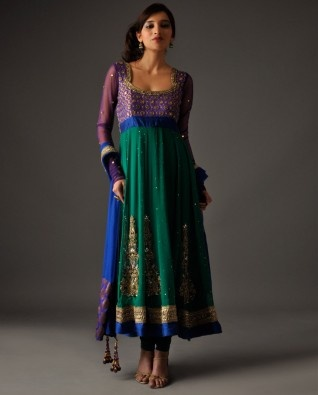 Bhumika Grover's Peacock Green Anarkali Suit