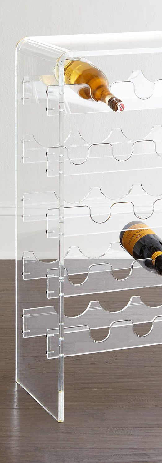 Wine rack with clean and simple lines | Home Bar Accessories | Earth Gear