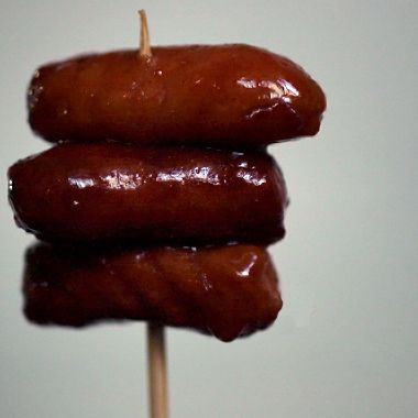 2 Pkg. Lil Smokies1 Lg Bottle of Sweet Baby Rays Honey BBQ Sauce2 Tbsp. Franks Red Hot Sauce1 Tbsp. Worchestire Sauce1/2 C. Grape Jelly
