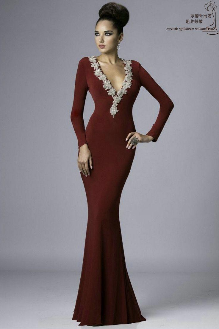 Tight Long Sleeve Formal Dresses