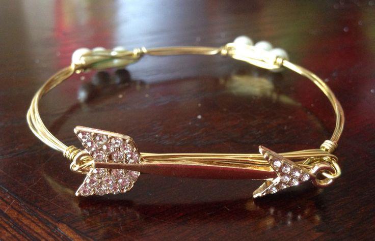 Wire Wrapped Bangle Set, Bangle Bracelet, Wire Bangle, Wrapped Bracelet, Bourbon and Boweties Insprired, Clear by bebangled on Etsy https://www.etsy.com/listing/485762048/wire-wrapped-bangle-set-bangle-bracelet