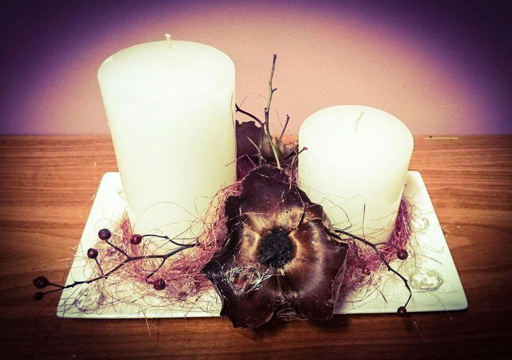 Świece z dodatkiem suszu - candles :-)