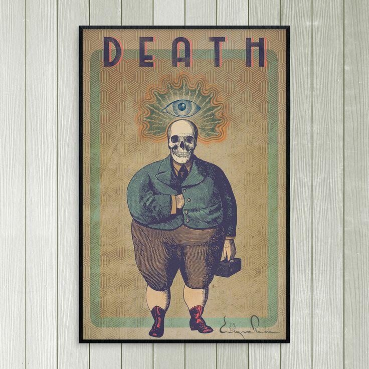 Poster Death. Autor:Enrique Parra