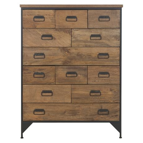 Drawers & Co. 12 Drawer Chest Natural