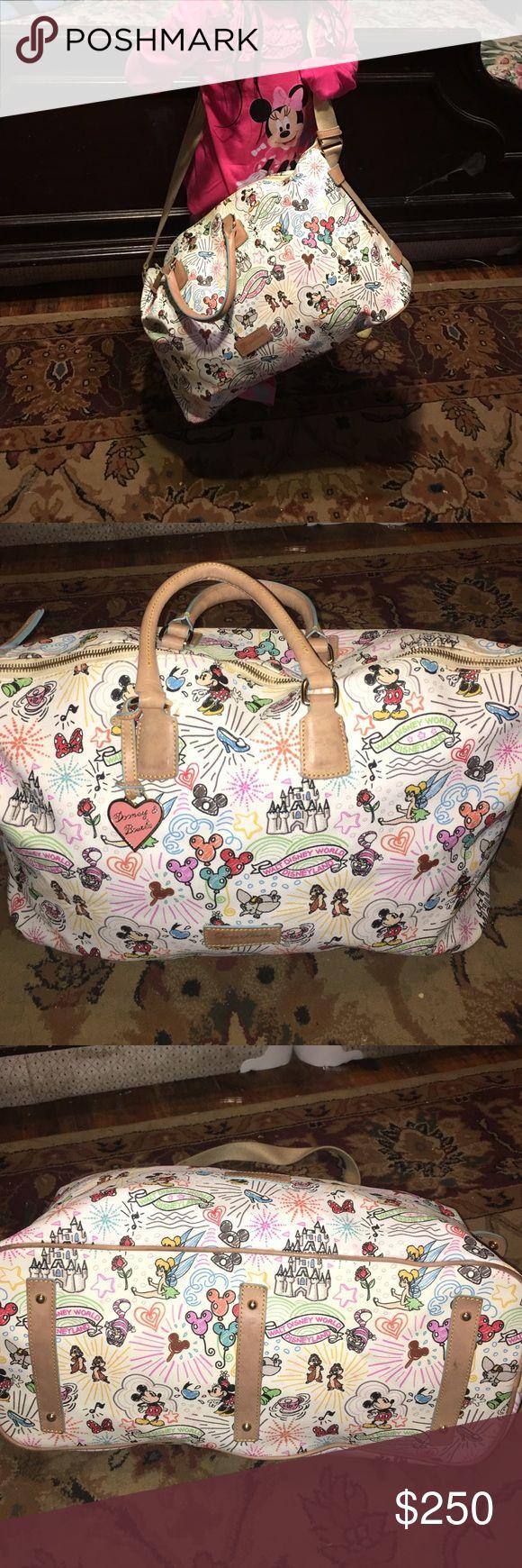 Disney Dooney and Bourke duffle weekender tote bag used but no tears or stains Dooney & Bourke Bags Travel Bags