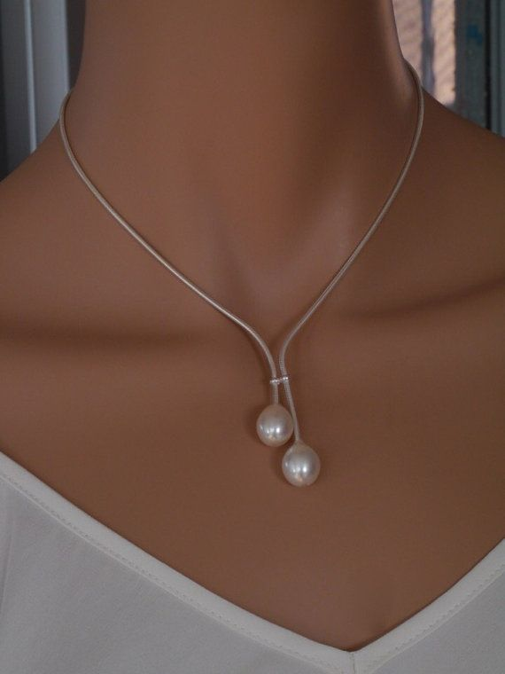 Sterling Silver Daniela Necklace by kimberleyraine on Etsy