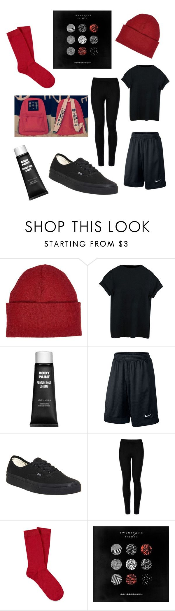 """""""Twenty one pilots Blurryface"""" by lea113111 ❤ liked on Polyvore featuring River Island, NIKE, Vans, Wolford and Forever 21"""