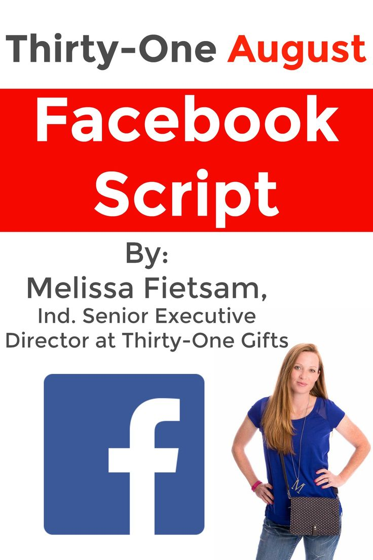 Here is a Thirty-One script for August Facebook parties! Lots of graphics and videos included for everyone to use. Also some new Facebook games for my parties