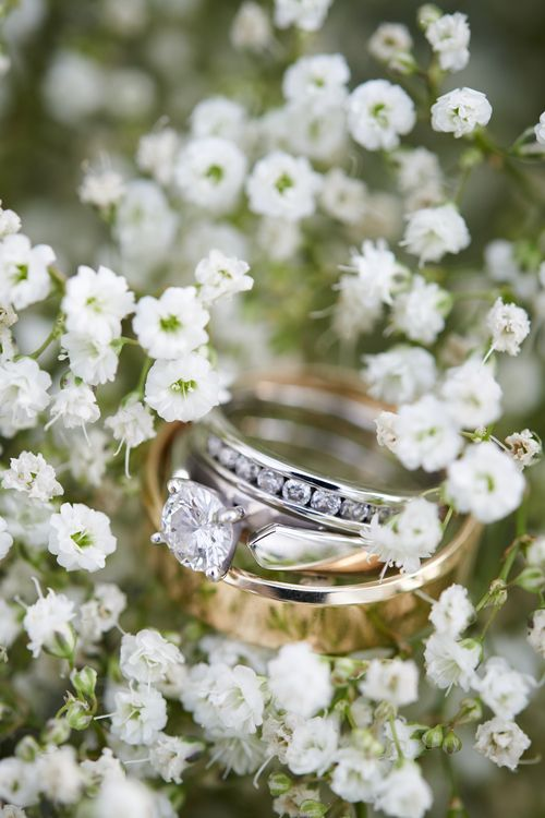 Ring shot with baby's breath