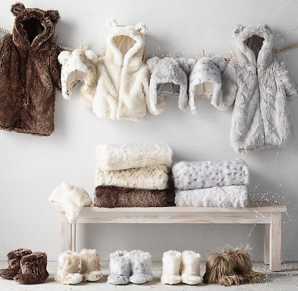Rh Baby Amp Child S Luxe Faux Fur Baby Animal Hoods Inclement
