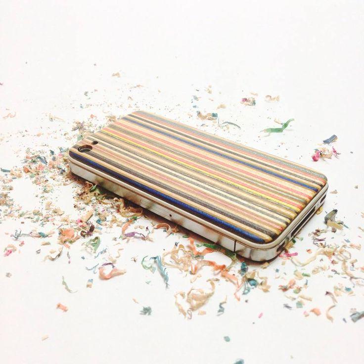 iphone skate back cover!100% handmade by recycled skateboard decks !