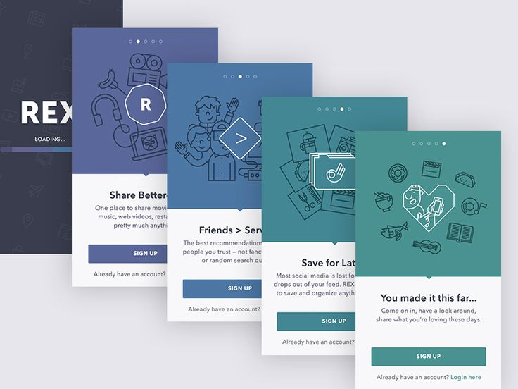 Rex Onboarding Set by Chris Rodemeyer for FreeAssociation