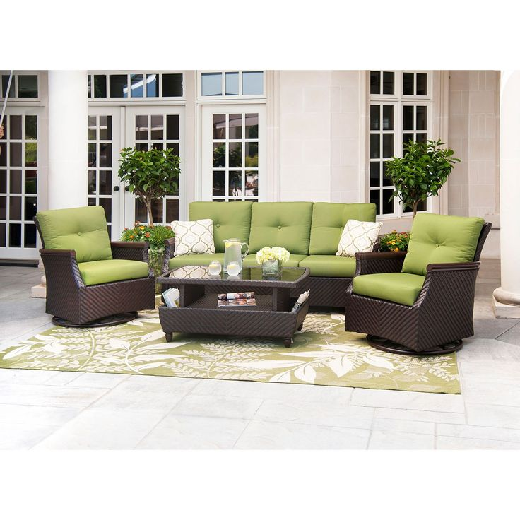 Member s Mark Carnaby Deep Seating 4 Piece Set with Premium Sunbrella Fab