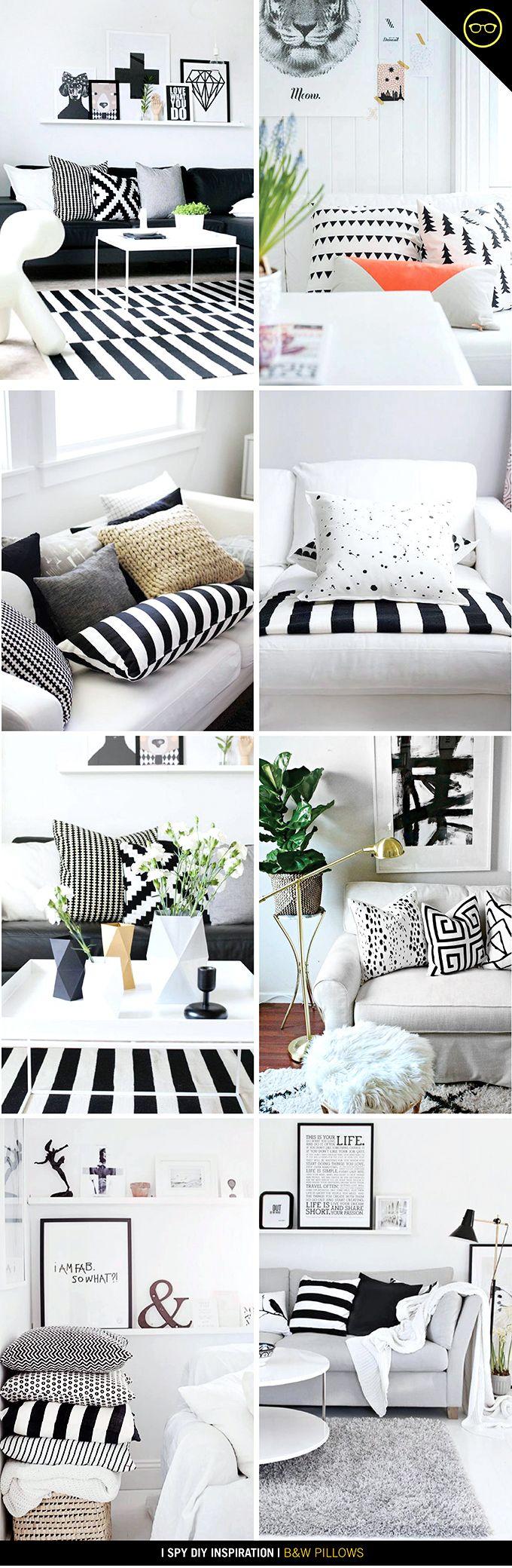 INSPIRATION | B&W Pillows | I SPY DIY
