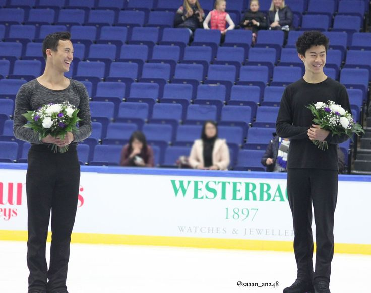 Patrick Chan(Canada) and Nathan Chen(USA)