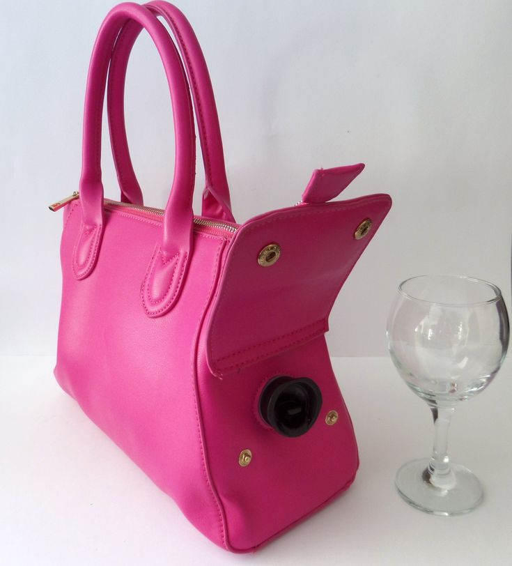 JWB-002  Fully Insulated Wine Bag Pink...shut up and take my money