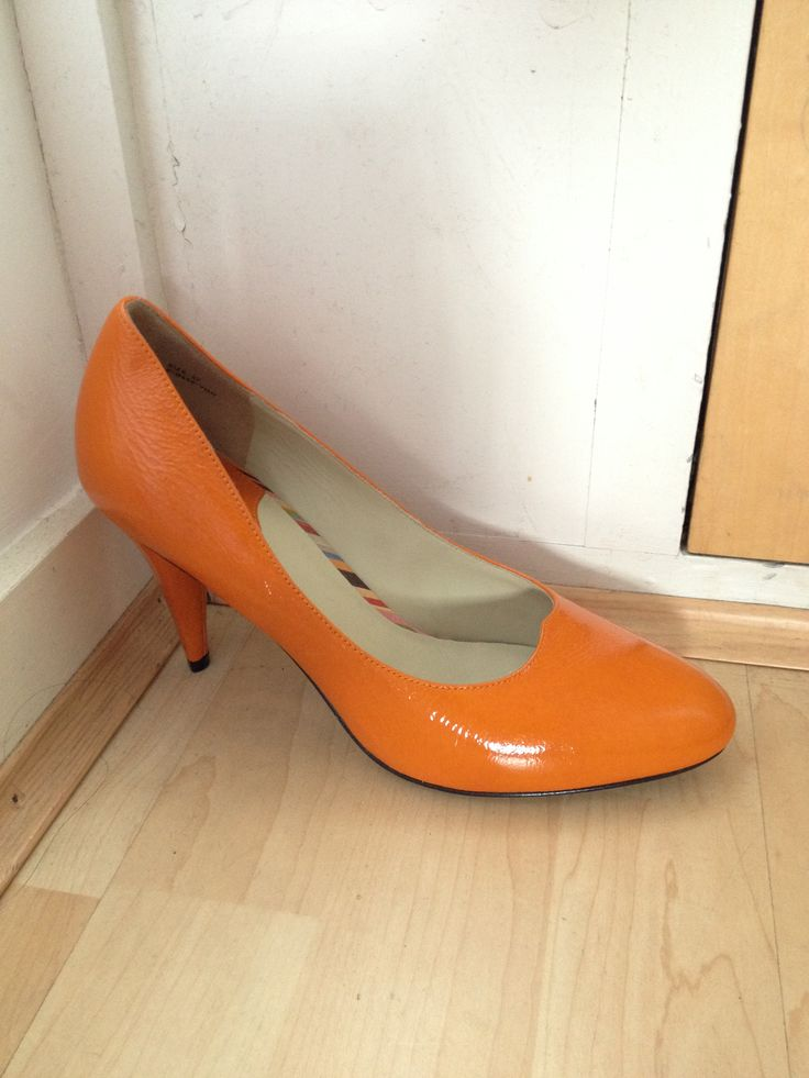 Paul smith orange leather stilettos size 37