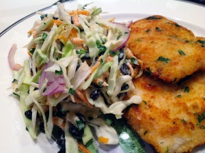 #Chicken #Schnitzel and #Coleslaw #wednesdaysdinner