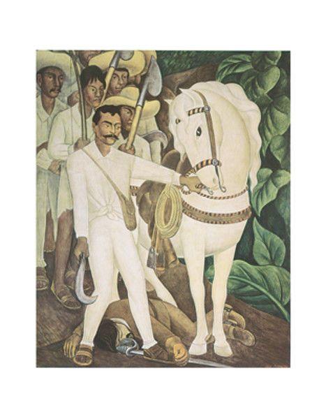 Diego Rivera Agrarian Leader Zapata Mexican Mexico Portrait Print Poster 11x14