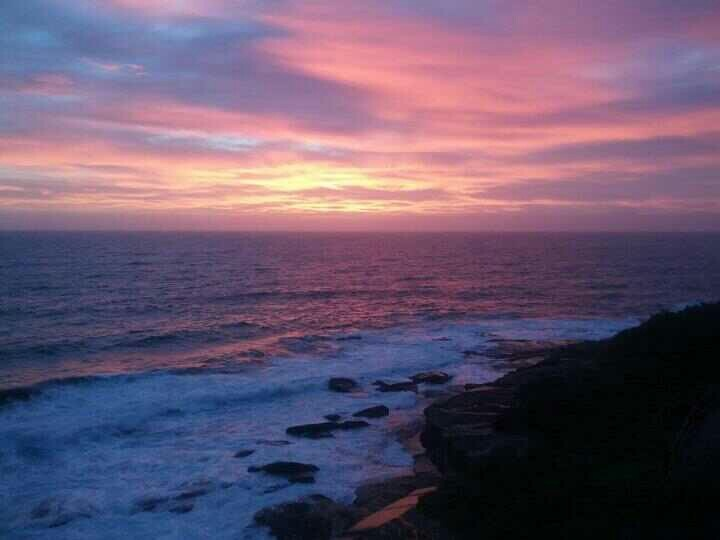 The coastline between Maroubra and Coogee. Beautiful sunrise this morning (27 Feb 2013)
