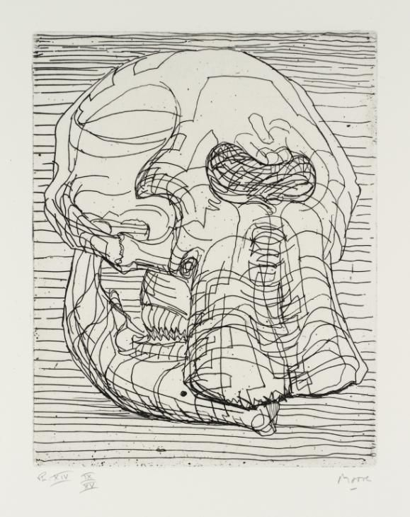 Henry Moore OM, CH 'Elephant Skull Plate XIV', 1969