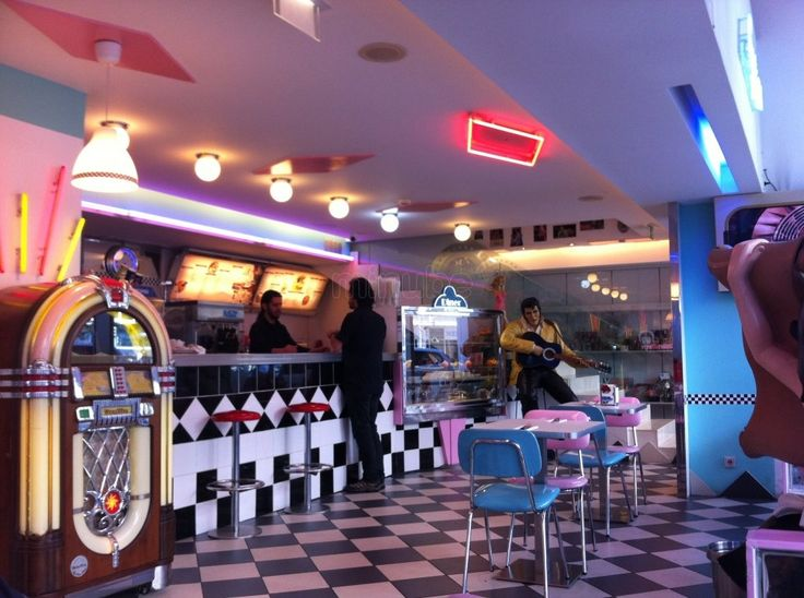 restaurante the 50 s american diner lisboa 165330 50 39 s decor pinterest rincon diners and. Black Bedroom Furniture Sets. Home Design Ideas