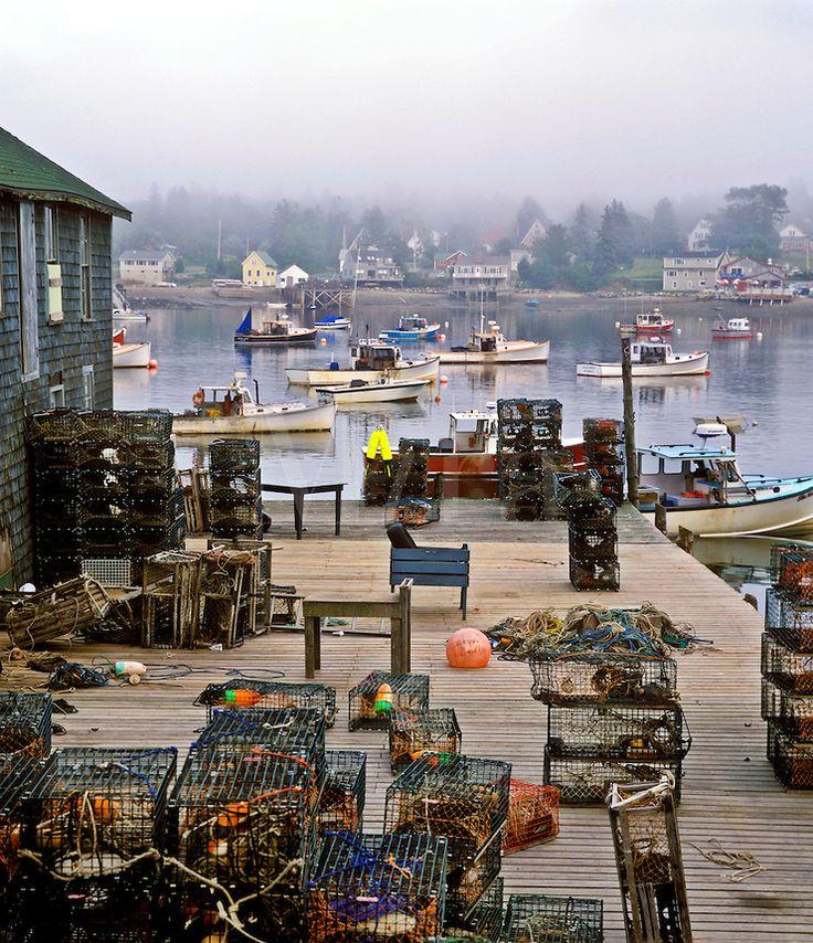 Fishing village, Bass Harbor. Maine USA Bass Harbor, Mt. Desert Island.