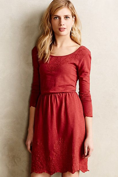 Ellie Dress #anthropologie Love the details in the back and the lace trim.