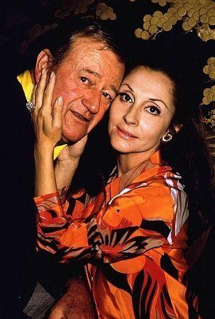 John Wayne And Wife Pilar At Home  1970